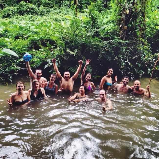 озеро buaton водопад