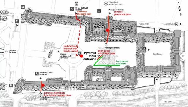 Лувр музей карта вход